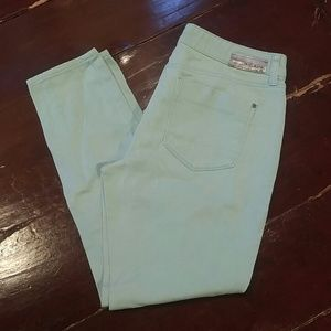 Mint Green DKNY Skinny Jeans